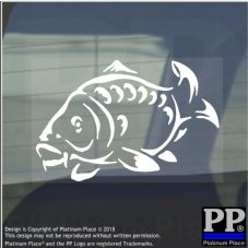 1 x Carp-Vinyl Sticker-Car Window Graphic Sign Animal,Fish,Swim,Fishing,Freshwater
